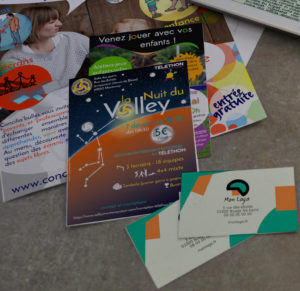 Flyers, affiches , cartes de visite, etc.